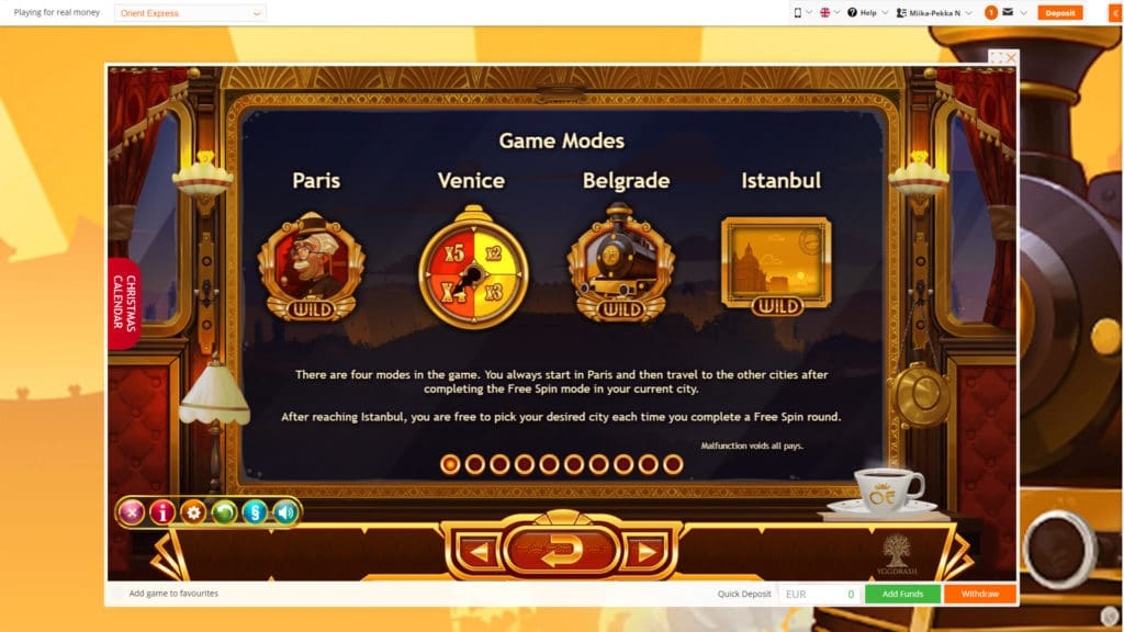 New Orient Express Slot From Yggdrasil