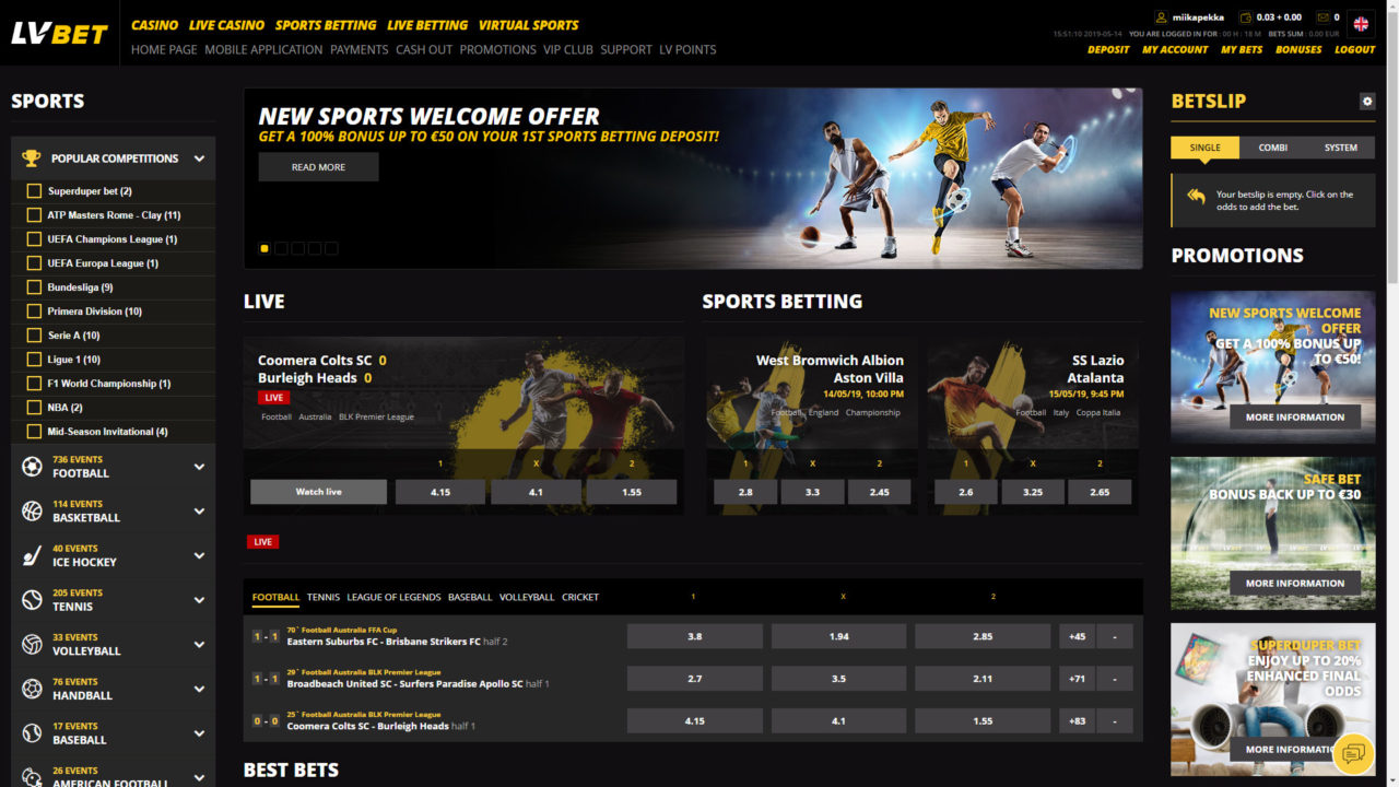 Lv betting us sports betting site
